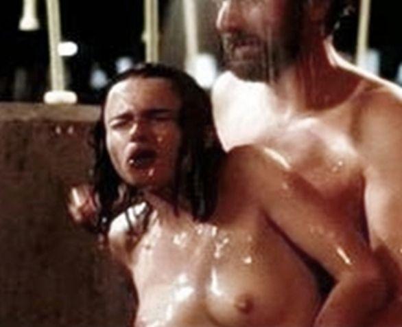 naked girl eating boobs