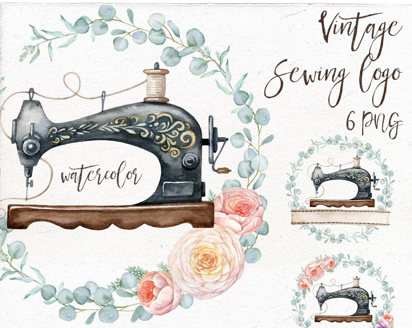 21 X Personnalisé Adresse étiquettes autocollants-rose machine à coudre-Craft adresse