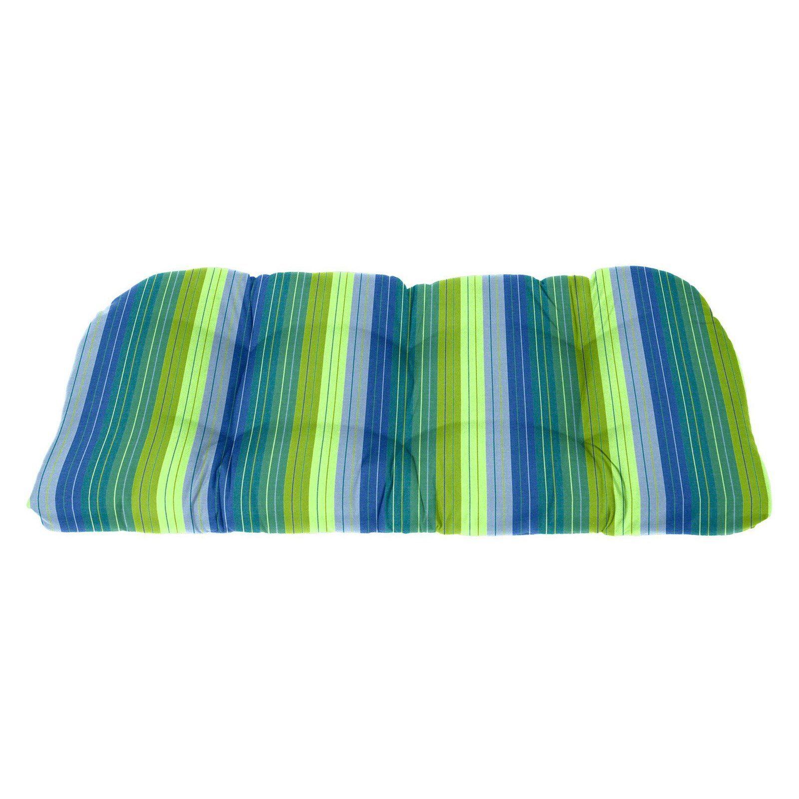 Cushion Source 41 X 19 In Striped Sunbrella Rounded Back Bench