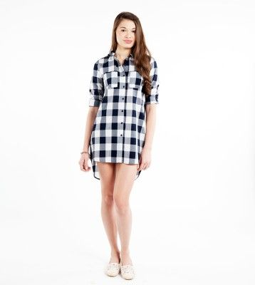 Sbuys Women's Checkered Casual Shirt - Buy Black Sbuys Women's Checkered Casual Shirt Online at Best Prices in India | Flipkart.com