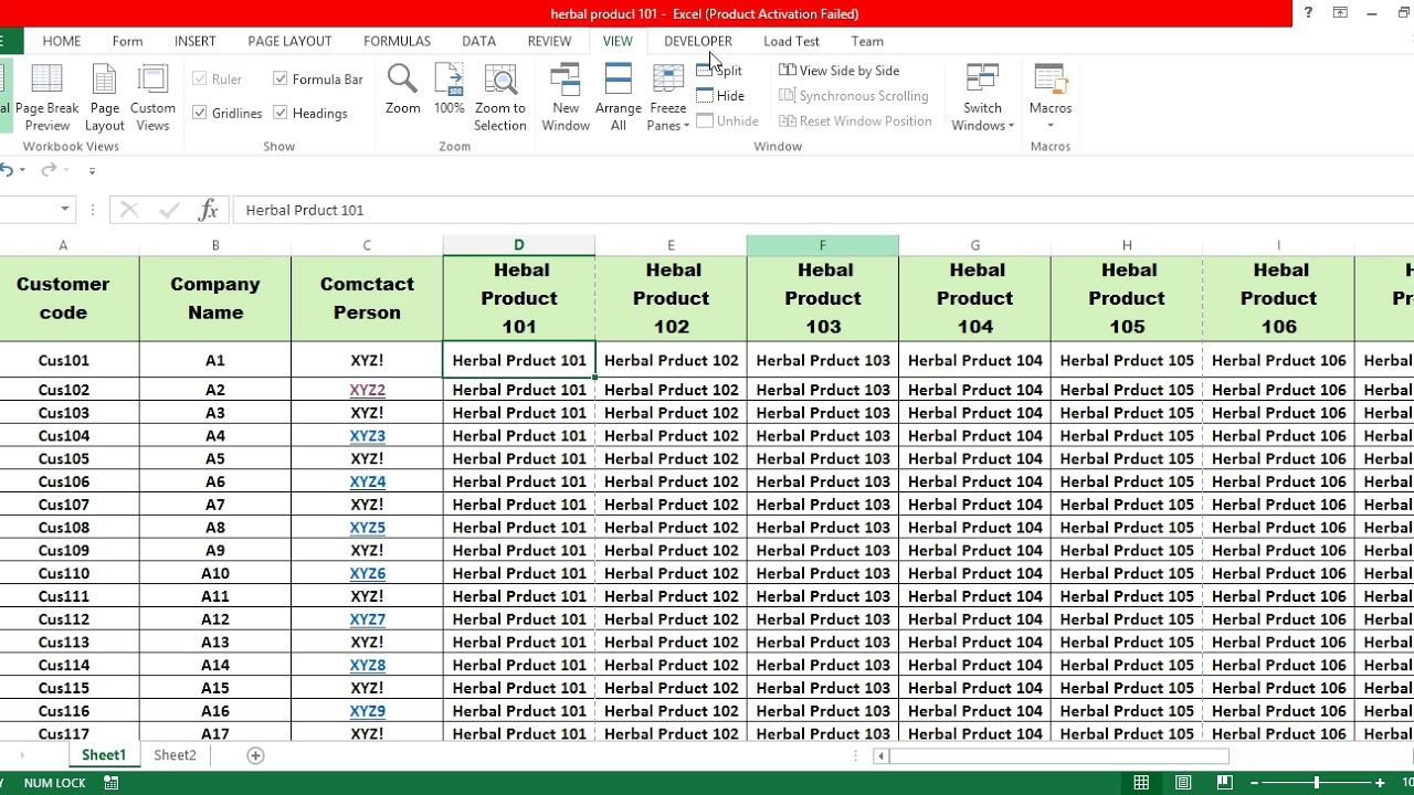 Freeze Panes In Excel Row And Column Stuck Not Scrolling Sheet Moving Column Page Layout Excel