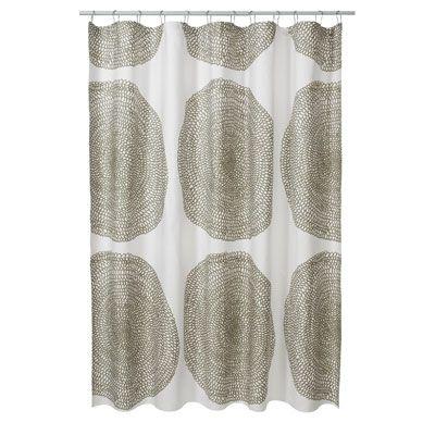 Beddingstyle Marimeko Pippuireka Taupe Cotton Shower Curtain
