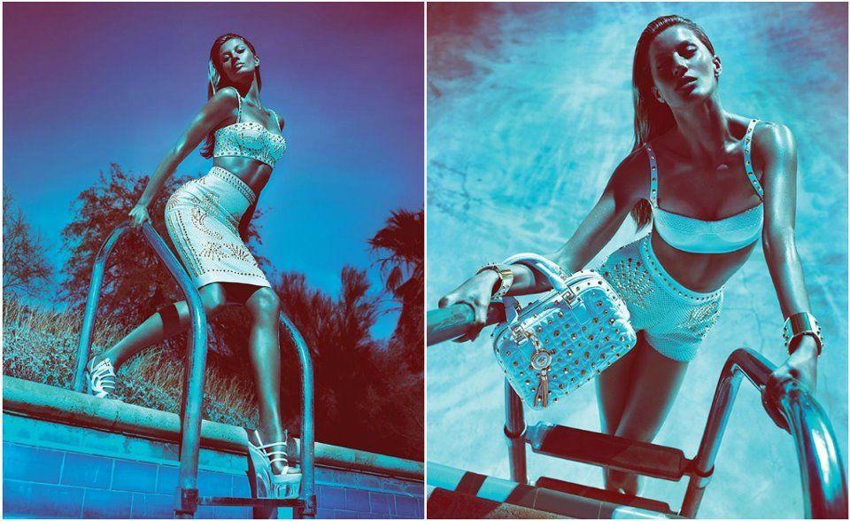 Gisele Bundchen for Versace SpringSummer 2012