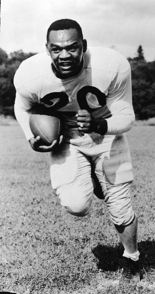 African-American Firsts Athletes: 1949: George Taliaferro becomes the first African-American drafted by an NFL team (Chicago Bears), but elects not to enter the league.