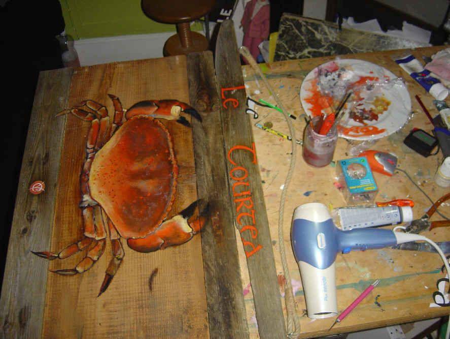 la bonne tourteau petit arte art driftwood et painting. Black Bedroom Furniture Sets. Home Design Ideas