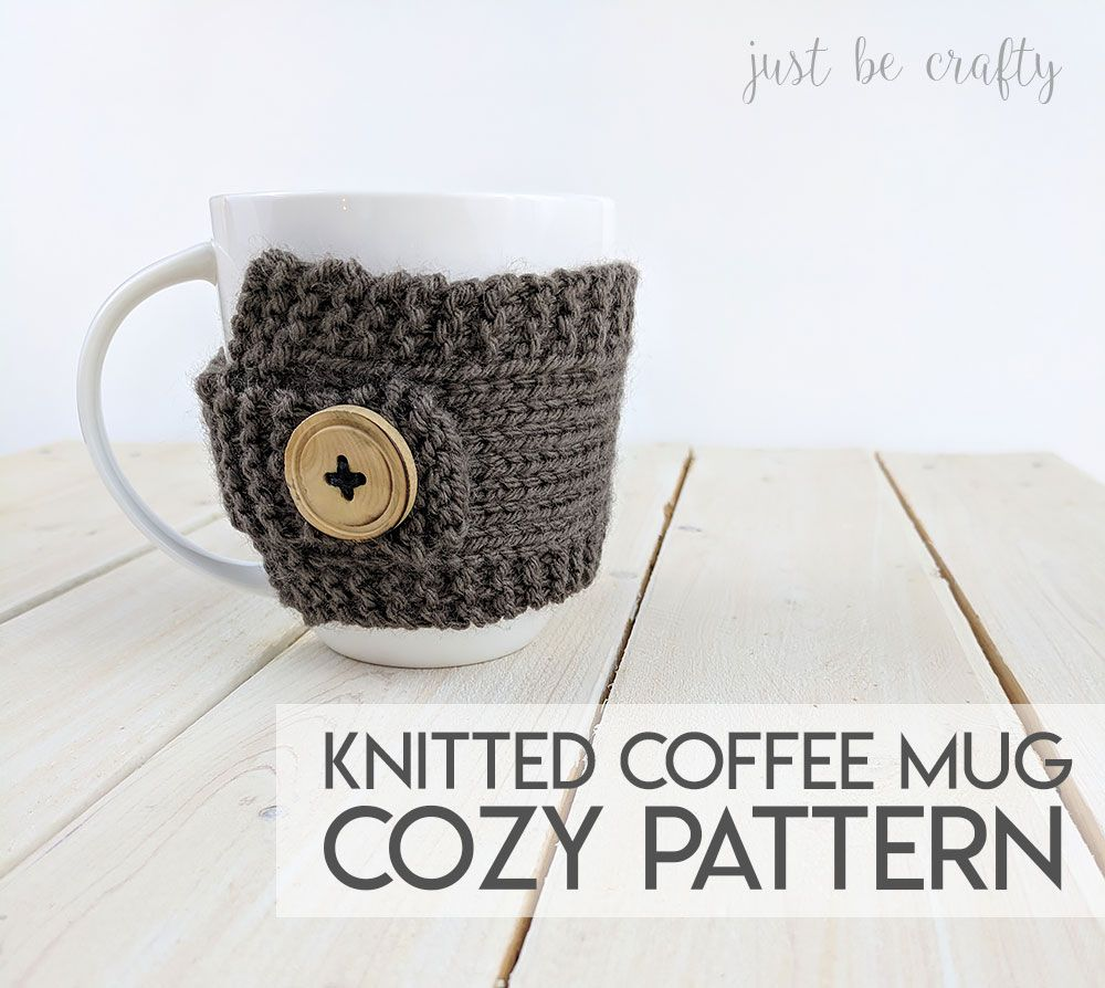 Knitted Coffee Mug Cozy Pattern - Free pattern by