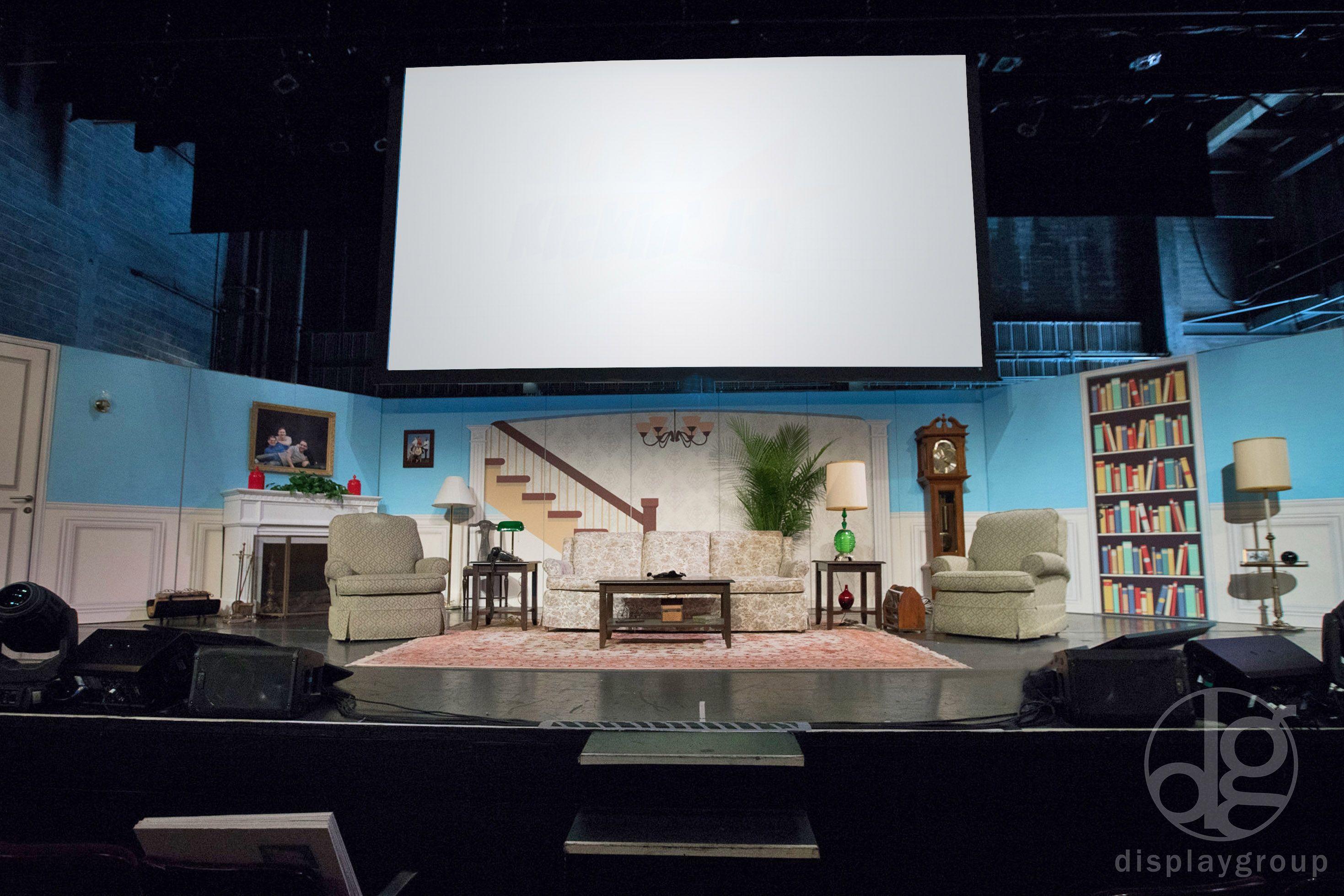80's living room stage set #stagedesign #stageset