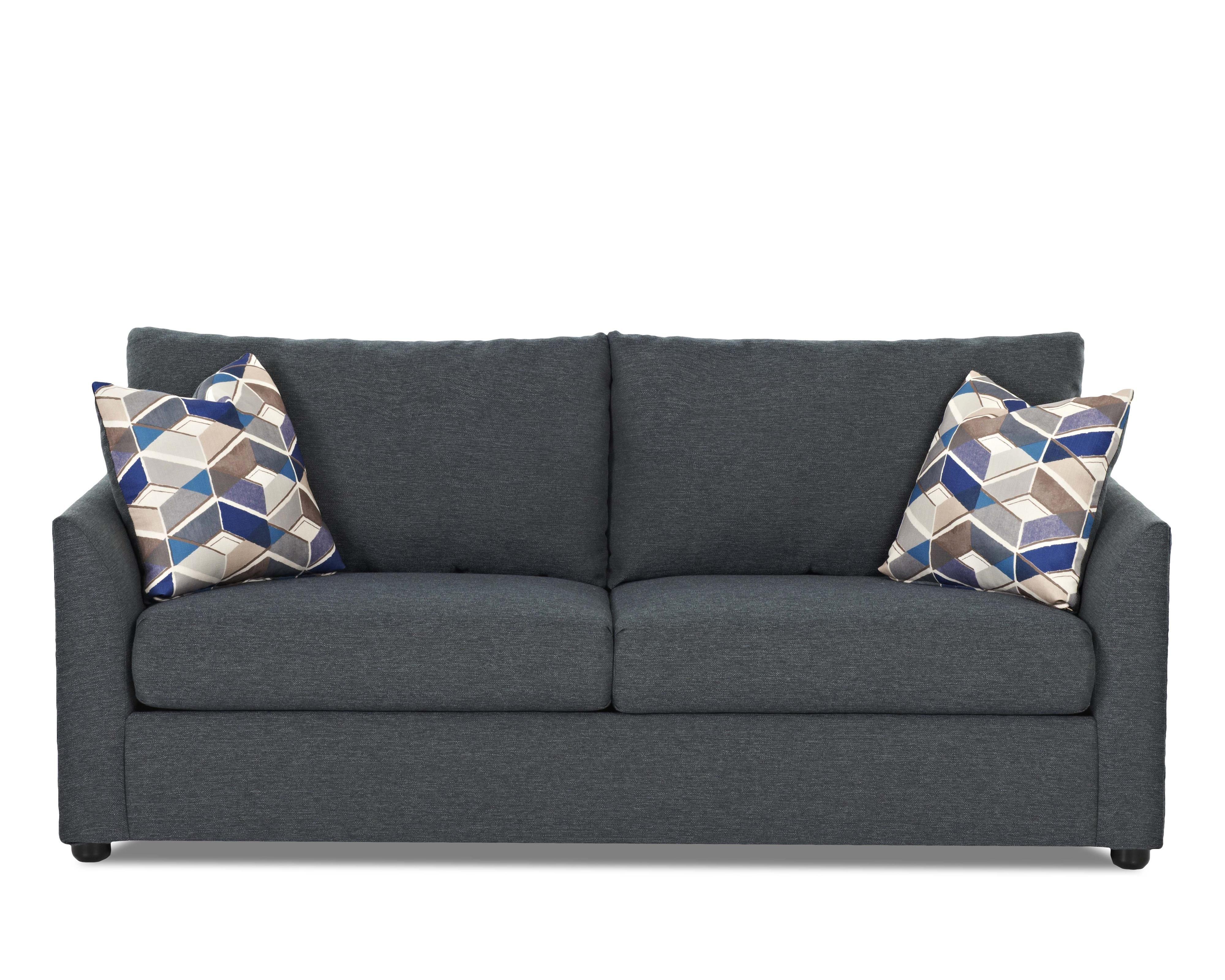 Kalvin Stylish Regular Size Sofa Sleeper With Dreamquest Innerspring Mattress By Klaussner At Hudson S Furniture Den Furniture Sleeper Sofa Furniture