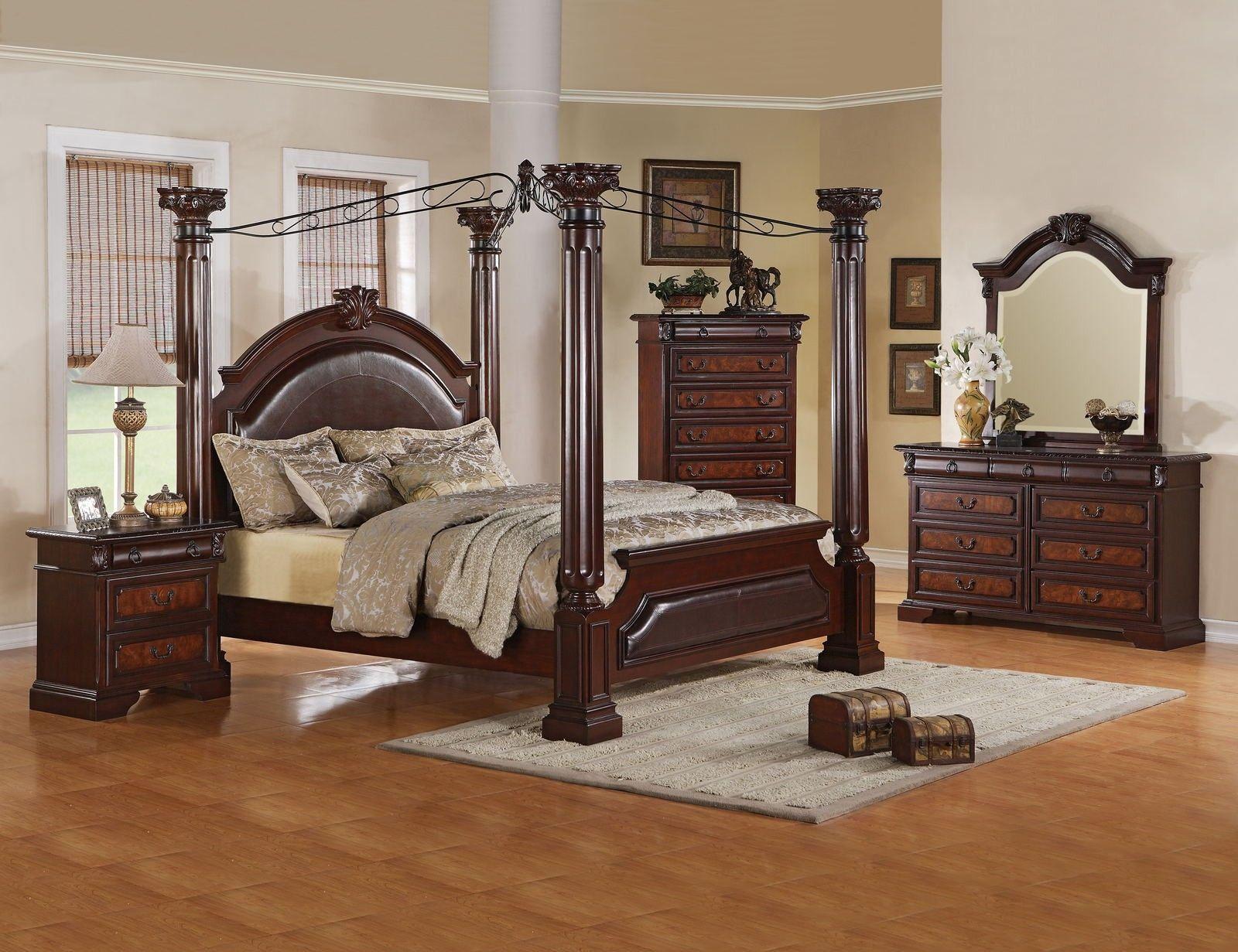 Superb Monticello Canopy Bedroom Set