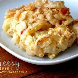 Cheesy O Brien Potato Casserole Rezept madeinaday.com
