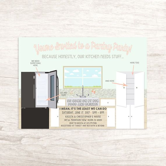 Housewarming Party Invitations First Apartment House Warming Pantry Invite Time