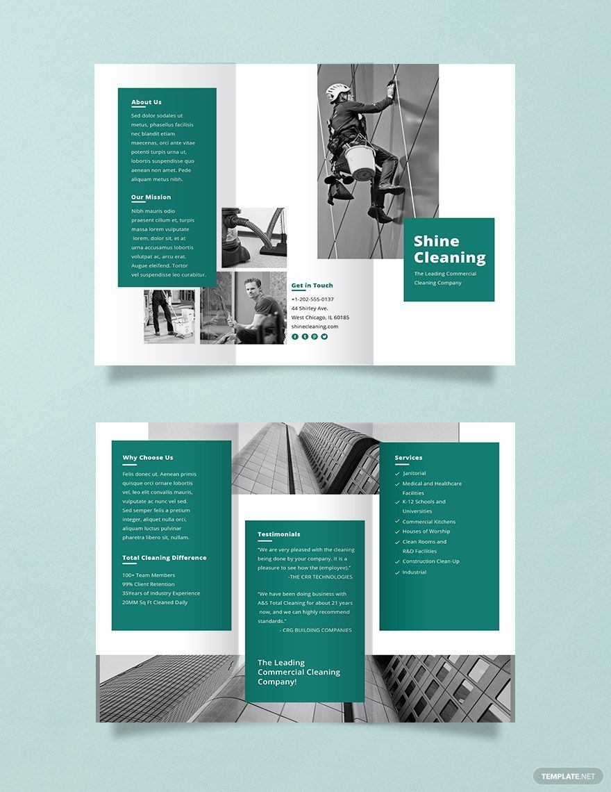 Instantly Download Free Cleaning Service Brochure Template Sample Example In Microso Brochure Design Layout Brochure Design Template Company Brochure Design Microsoft publisher templates free downloads