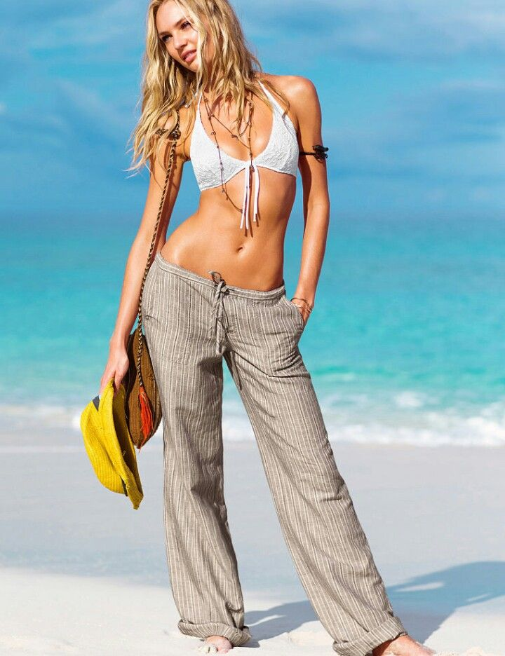 Pantalon Playero Beach Pants Fashion Linen Beach Pants