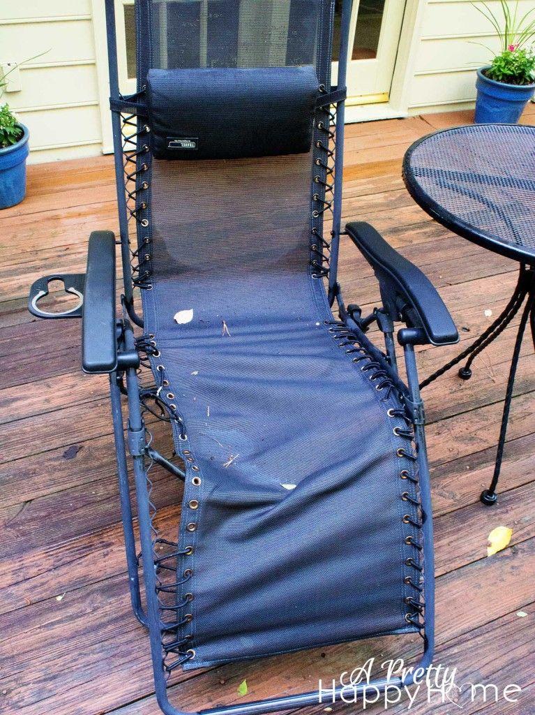 Zero Gravity Chair Repair waste knot want knot  REPAIR