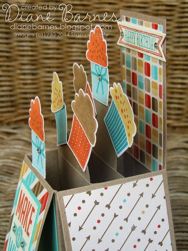 Cupcake Pop Up Card in a Box (with template)   colour me happy   Bloglovin'