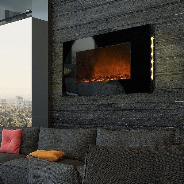 best wall mount electric fireplace - AKDY® 36 inch LED Wall Mount ...