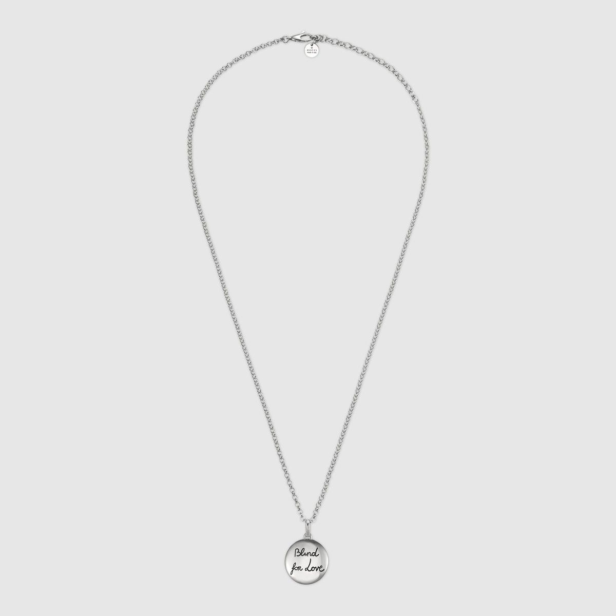 95f24f8896a GUCCI Blind For Love Necklace In Silver - Sterling Silver. #gucci #all