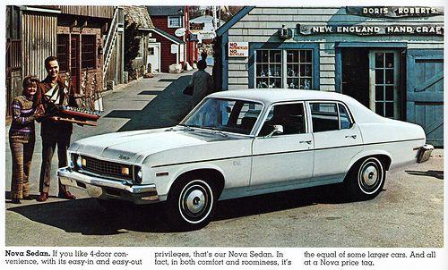 1973 Chevrolet Nova Sedan Chevrolet Nova Chevrolet Nova Car