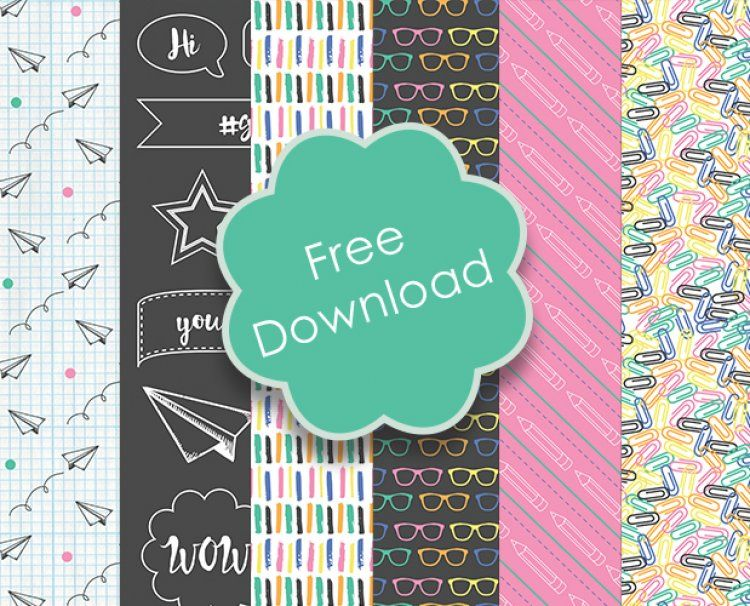 Free Back to School Printable Papers | Free scrapbook paper ...