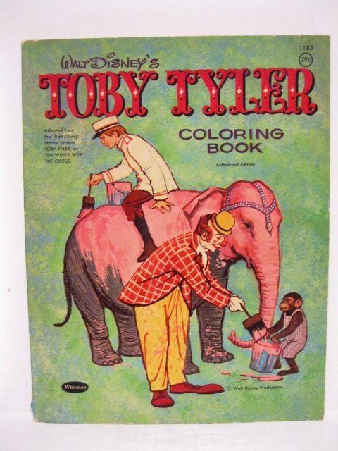Walt Disneys Toby Tyler Coloring Book