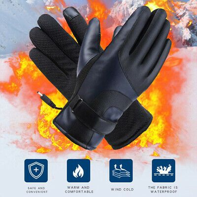 Ebay Advertisement Motorcycle Heated Gloves Pu Leather Electric Motorbike Winter Warm Riding Gloves Heated Gloves Riding Gloves Warm Gloves