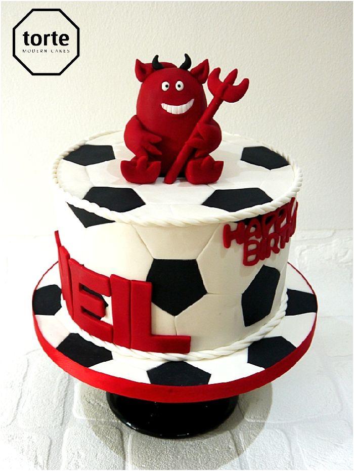 Red Devil Manchester United Birthday Cake Birthday Cake