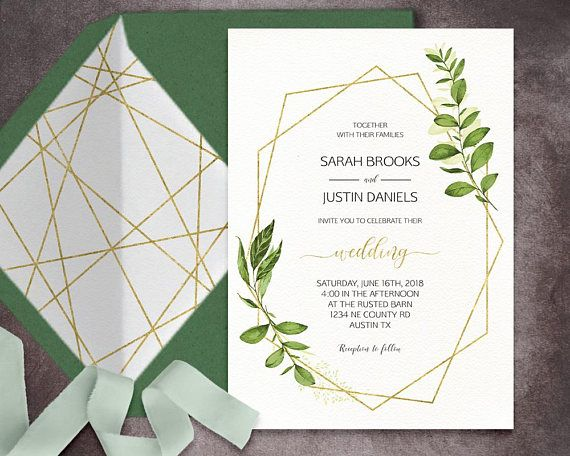 Ready To Print Wedding Invitations: Please Take A Moment To Read This Items Description ⋆ If