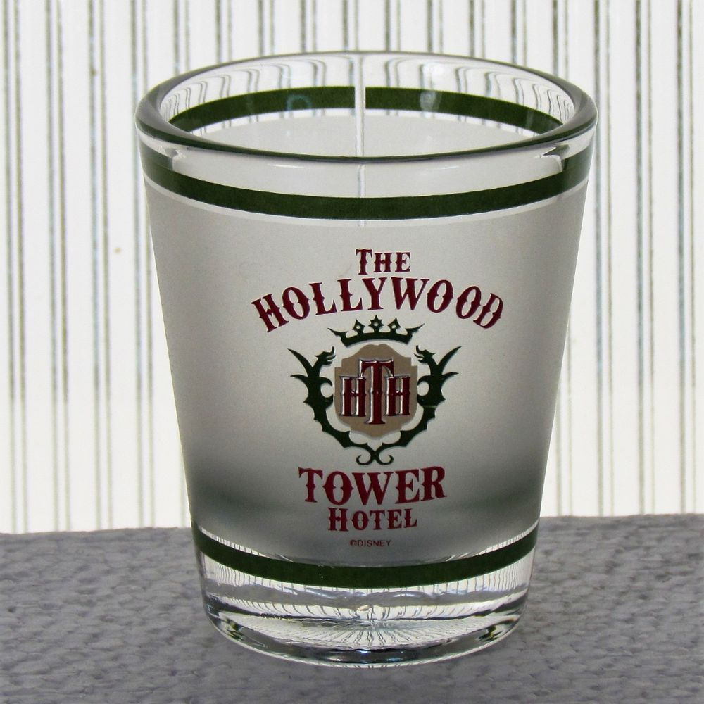 Disney Hollywood Tower Hotel HTH Collectible Shot Glass Terror Twilight Zone  #Disney