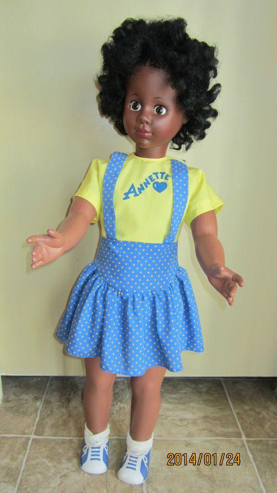Vintage Black Walking Doll Annette By Eegee 32 Tall