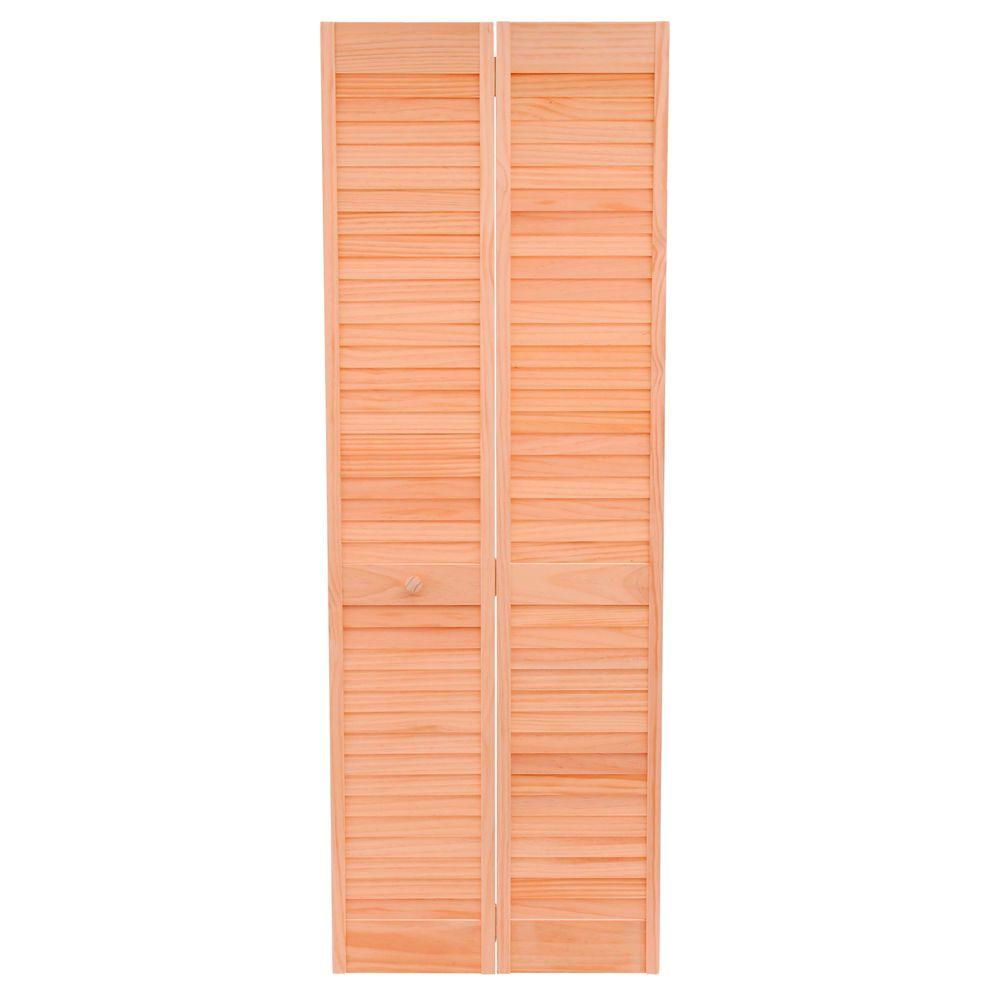 Home Fashion Technologies 28 In X 80 In Louver Louver Stain Ready Solid Wood Interior Closet Bi Fold Door 1202880300 With Images Wood Interiors Bifold Doors House Styles