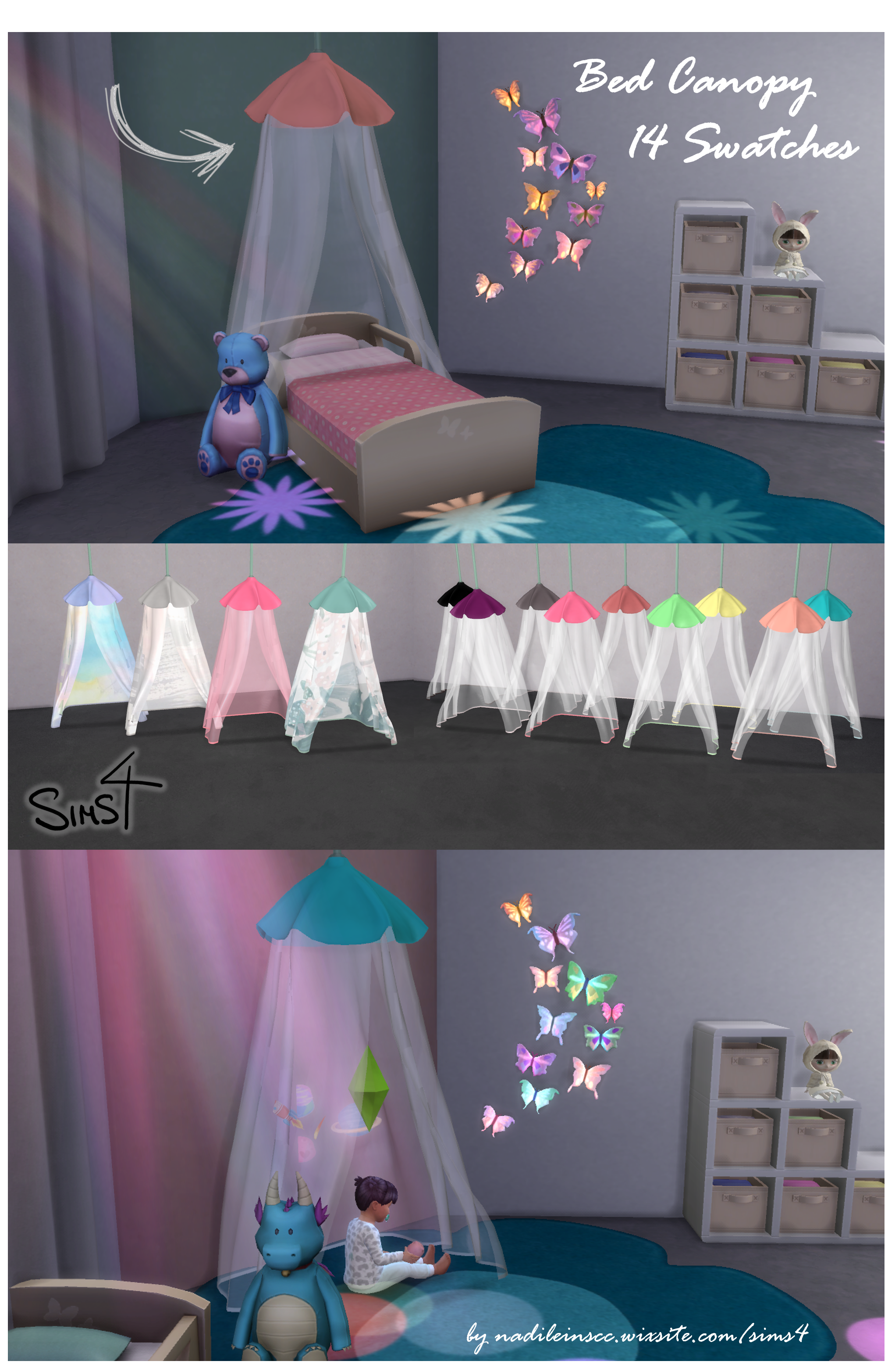 Dreamer Sims 4 Bedroom Sims 4 Beds Sims Baby