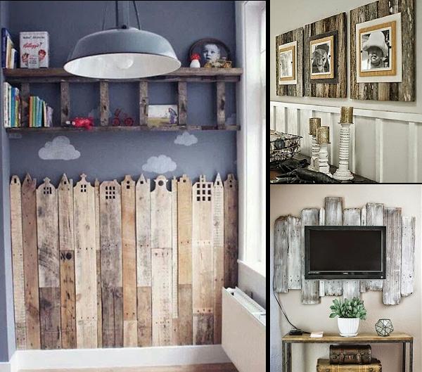 Decorando paredes con tablas de madera ideas decoraci n - Decorar tabla madera ...