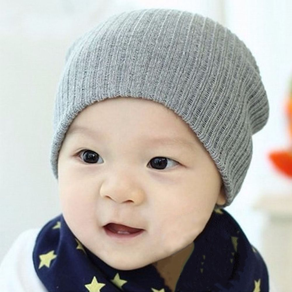Cute Cap 12 Colors Baby Hat For Girls Boys Knit Baby Hats Beanie