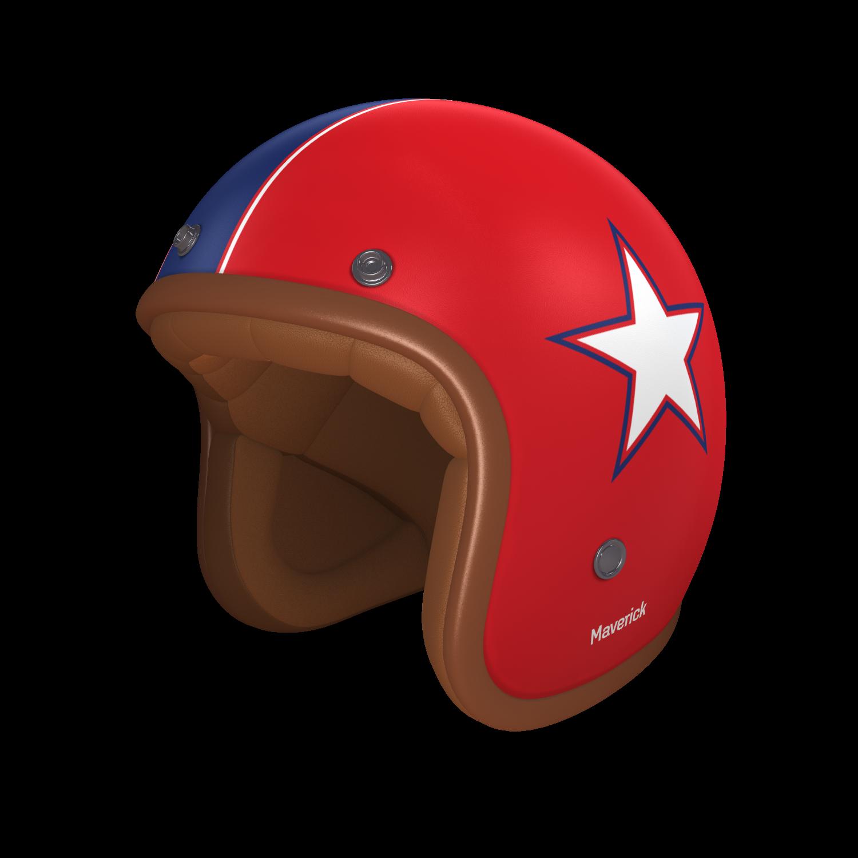 #helmade ONE #retrostar. A Top Gun inspired design for the all-day racers. #helmetdesign #retro #custom #design #navy