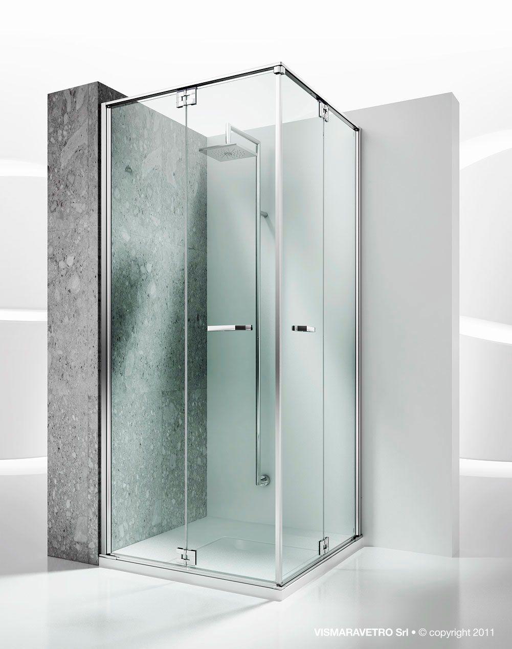 Glass Shower Cubicle Corner With Folding Door Replay Ra Ra Vismaravetro Shower Cubicles Corner Shower Enclosures Shower Enclosure