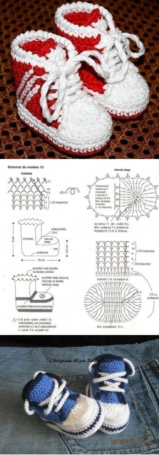 DIY impresionante modelo lindo botines del bebé | TEJIDOS/CROCHET ...