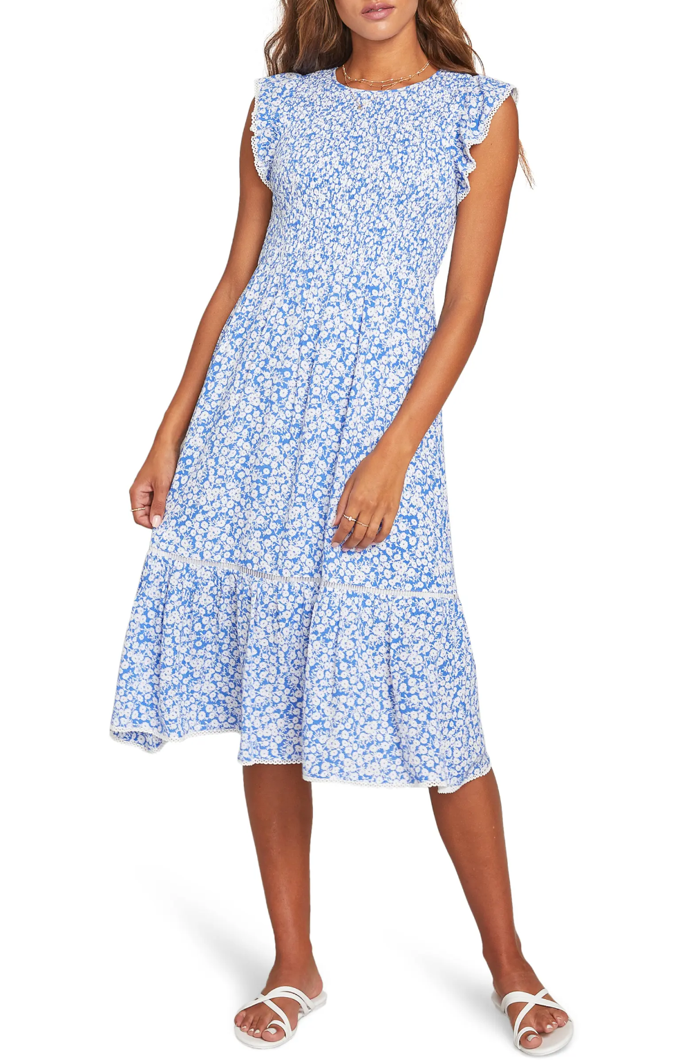 Lost Wander Pick Me Floral Smocked Dress Nordstrom In 2021 Nordstrom Dresses Dresses Summer Day Dresses [ 1533 x 1000 Pixel ]