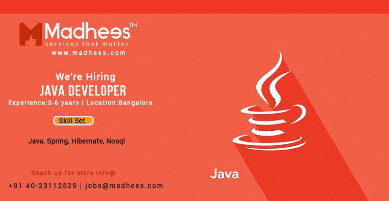 Java Developer Development Java Job