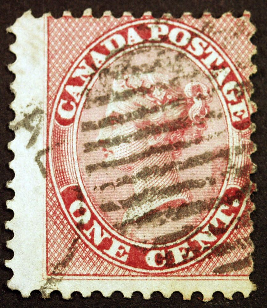 Early Canada 14b 2c Deep Rose Perf 11 3/4 1859 Queen
