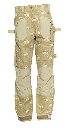 Garden Girl Usa Full Trousers 10 Inch Roses Tan Arbeitshose Damen Arbeitshosen Hosen