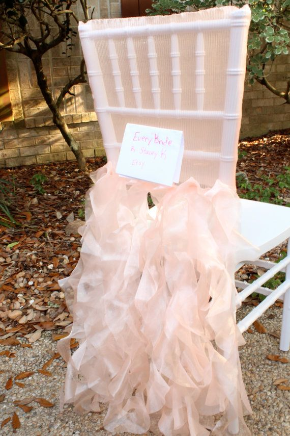 peach pink blush chiavari chair cover tutu wedding chair cover sale wholesale clearance