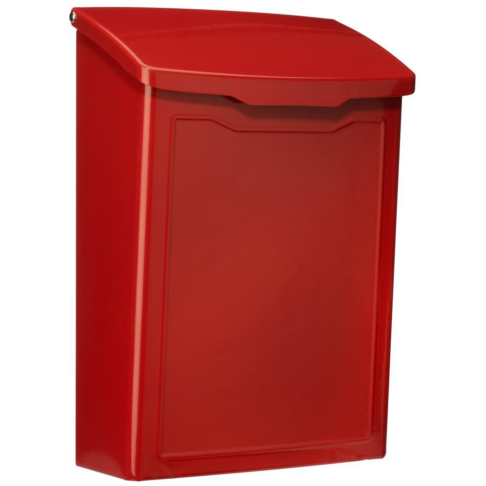 Architectural Mailboxes Marina Red Wall Mount Mailbox 2681r Wall Mount Mailbox Architectural Mailboxes Mounted Mailbox