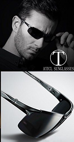 e9ad44d2b2 Amazon.com  ATTCL New Fashion Driving Polarized Sunglasses for Men  Unbreakable-metal Frame