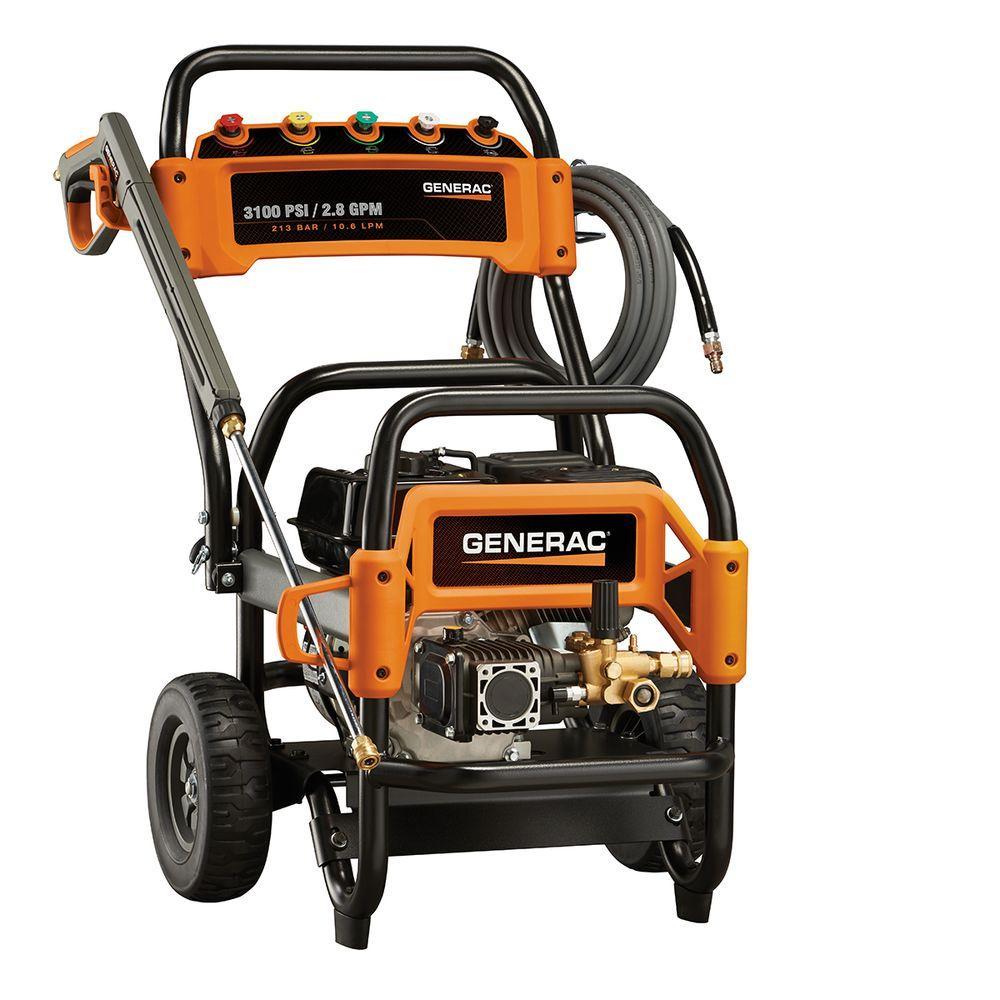 Generac 3,100 psi 2.8-GPM OHV Engine Triplex Pump Gas Pressure Washer - California Compliant