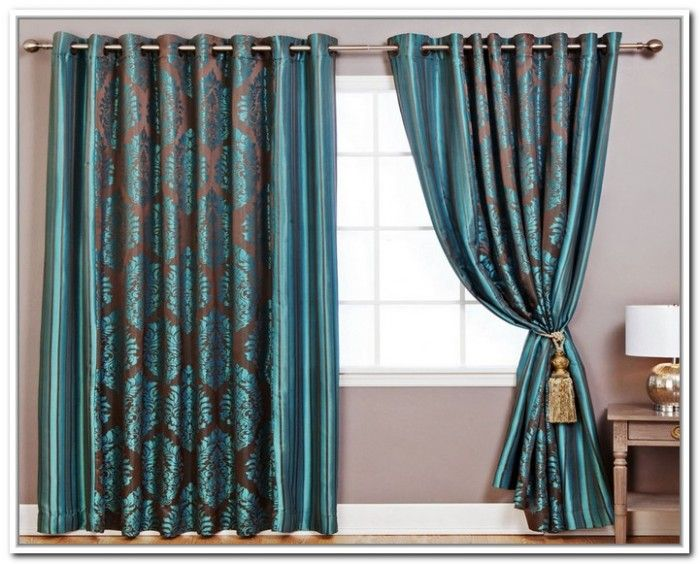 Teal And Brown Curtain Panels Ideas Brown Curtains Remodel