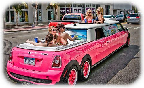 Limousines Pink Mini Coopers Mini Cooper Limousine