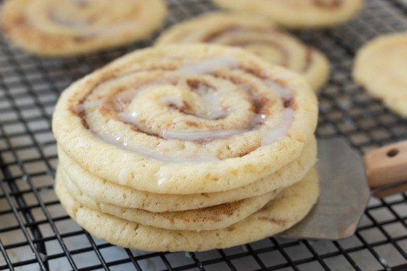 Cinnamon Roll Sugar Cookies | The Cook's Treat