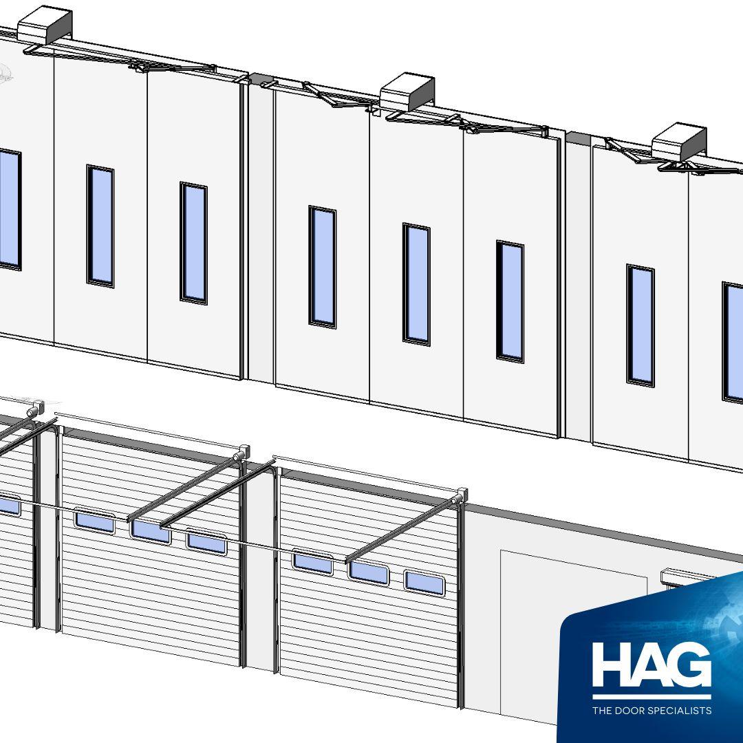 HAG Ltd. has the widest range of Commercial Door BIM