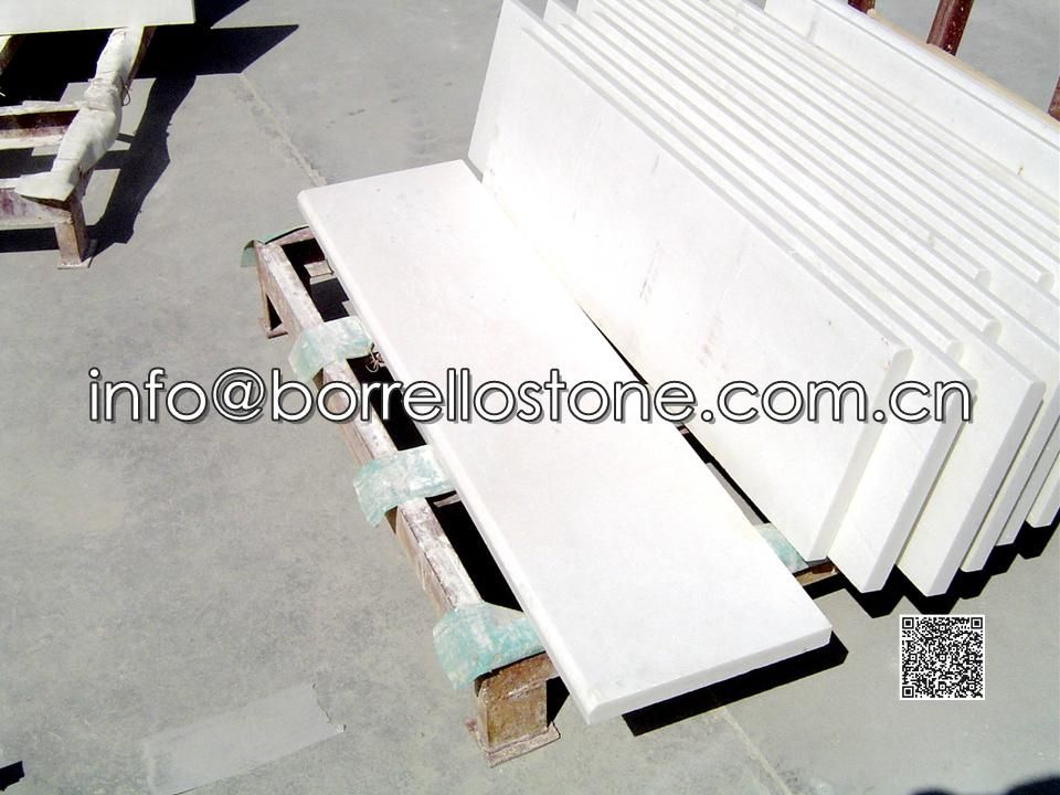 Pure White Marble Stair, Tread And Riser, Step
