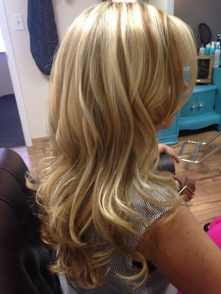 Medium sliced highlights alpha 1 haircolor pinterest layered blonde hair with highlights pmusecretfo Choice Image